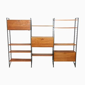 Teak & Steel Wall Unit from Staples Cricklewood, 1960s