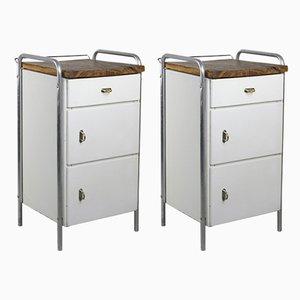 Mid-Century Industrial Cabinets, Set of 2