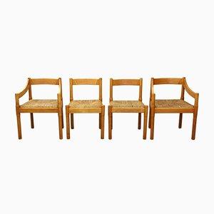 Carimate Esszimmerstühle von Vico Magistretti, 1970er, 4er Set