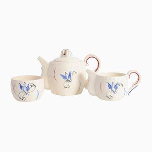 Französisches Liberation Tee-Set aus Keramik von J. Pobery, 1940er