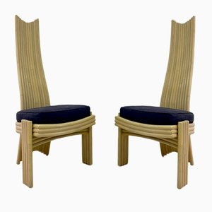 Bamboo Dining Chairs, 1980s, Set of 8