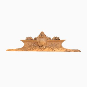 Antique Wooden Pediment