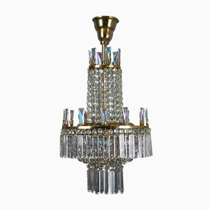 Austrian Glass Chandelier by Oswald Haerdtl for Lobmeyr, 1960s