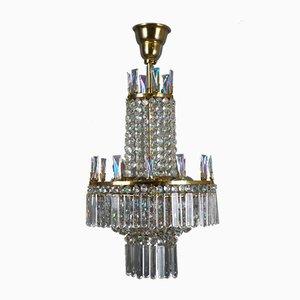 Österreichischer Glas Kronleuchter von Oswald Haerdtl für Lobmeyr, 1960er