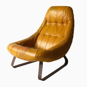 Leather Lounge Chair by Percival Lafer for Lafer, 1970s