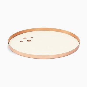 Cremefarbenes & rosan Lunay Tablett von Kerem Aris für Uniqka