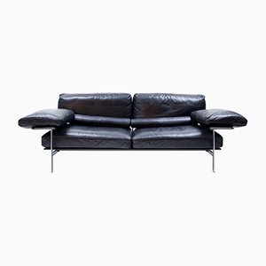 Vintage Leather Diesis Sofa by Antonio Citterio for B&B Italia / C&B Italia