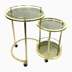 Italian Smoked Glass Nesting Tables from Morex, 1970s