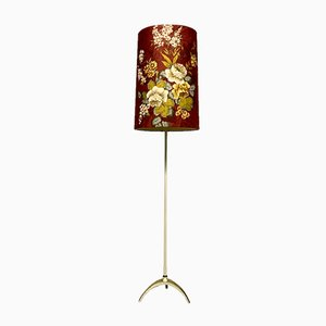 Italienische Vergoldete Mid-Century Sockel Stehlampe