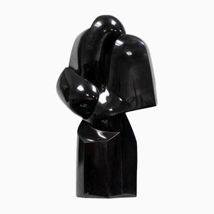 Black Marble Noir de Mazy Sculpture by Pol Spilliaert, 1980s
