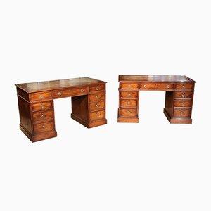 Antique Identical Desks, Set of 2