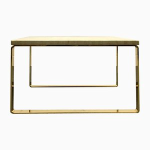 Mid-Century Gold Plated Travertine Model Primus 1062 Coffee Table by Peter Draenert for Draenert