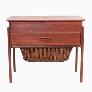Small Teak Console Table, 1960s