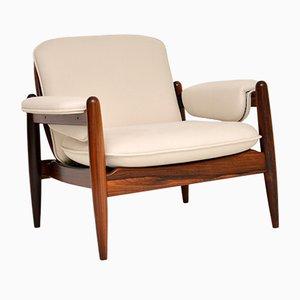 Vintage Danish Rosewood Armchair, 1960s