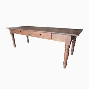Rustikaler Italienischer Esstisch aus Holz, 1980er