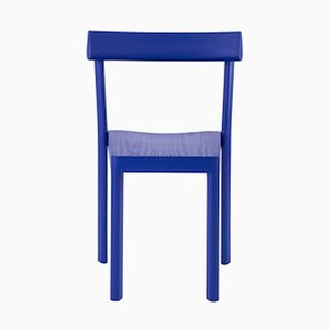 Chaise Galta Bleue en Chêne par SCMP Design Office