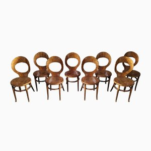 Model Mouette Dining Chairs from Baumann, 1980s, Set of 8