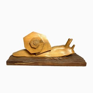Handgeschnitzte La Mode Skulptur aus Holz, 1983