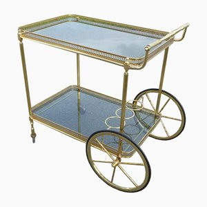 Neoclassical French Brass Serving Trolley, 1960s