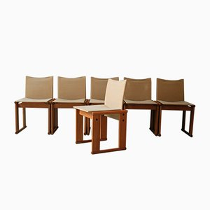 Monk Dining Chairs by Tobia & Afra Scarpa, 1970s, Set of 6