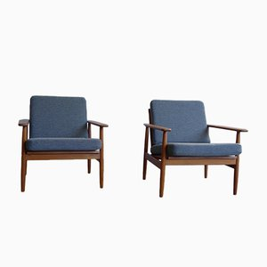 Vintage Danish Teak Armchairs, Set of 2