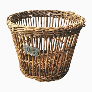 Vintage Wicker Basket, 1940s