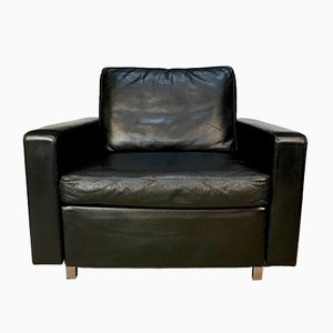 German Leather Conseta Club Chair by F. W. Möller for Cor, 1960s