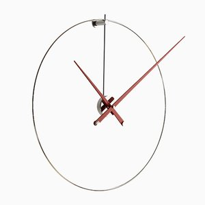 New Anda Clock with Red Hands by Jose Maria Reina for Nomon