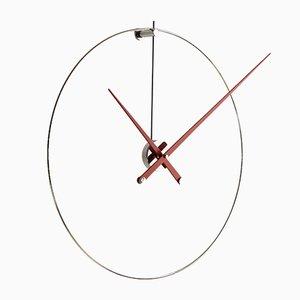 New Anda Uhr mit Roten Zeigern von Jose Maria Reina für Nomon