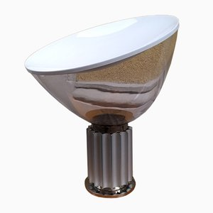 Große Glas Modell Taccia Tischlampe von Achille & Pier Giacomo Castiglioni für Flos, 1990er