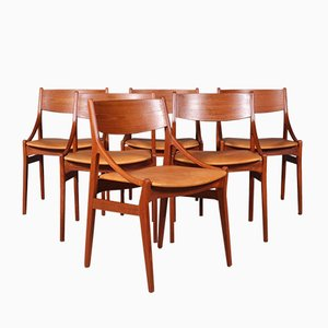 Dining Chairs by Vestervig Erikson, 1960s, Set of 6