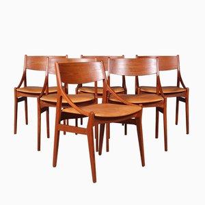 Esszimmerstühle von Vestervig Erikson, 1960er, 6er Set