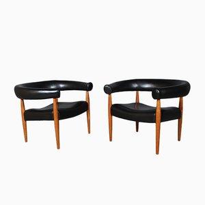 Armlehnstühle von Nanna und Jørgen Ditzel, 1960er, 2er Set