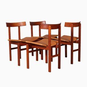 Modell 193 Esszimmerstühle von Inger Klingenberg, 1960er, 4er Set