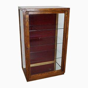 Oak & Glass Shop Vitrine, 1950s