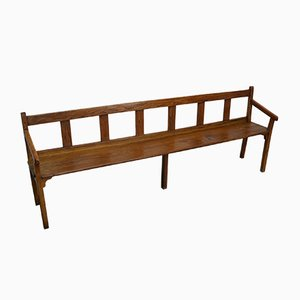 Large Antique French Oak Bench