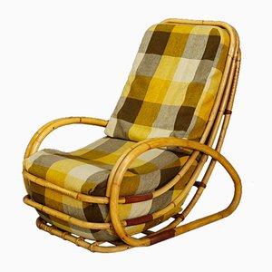 Italienischer Mid-Century Sessel aus Bambus & Stoff