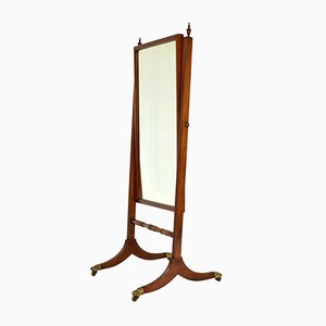 Antique Regency Mahogany Cheval Mirror