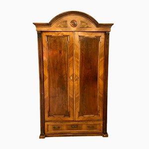 Antiker italienischer Walnuss Schrank, 1800er