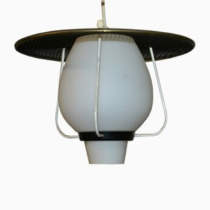 Mid-Century Black Ceiling Lamp, 1950s
