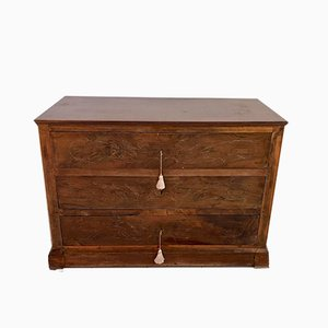 Antique Italian Walnut Chest of Drawers, 1800s