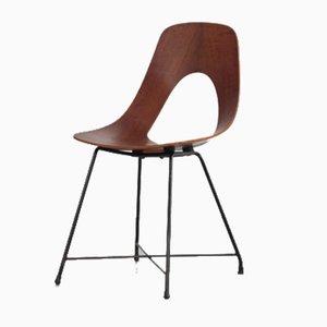 Modell Ariston Stühle aus Schichtholz von Augusto Bozzi für Fratelli Saporiti, 1957, 4er Set