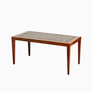 Danish Rosewood Inlaid Coffee Table by Severin Hansen for Haslev Møbelsnedkeri, 1960s
