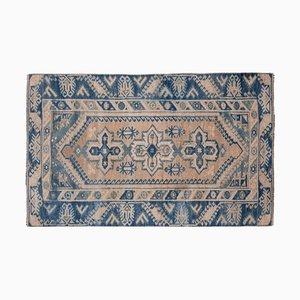 Türkischer Dekorativer Blauer Oushak Teppich von Vontag, 1970er