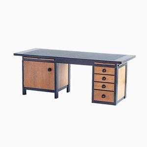 Oak, Macassar and Ebony Desk by Frits Spanjaard, 1932