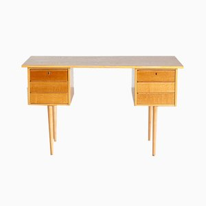 Vintage Danish Oak Desk, 1960s