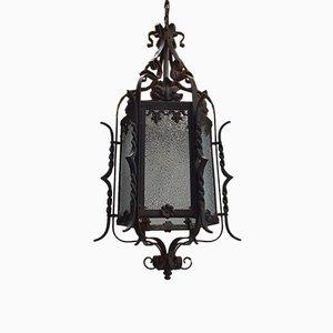 Antike Landelampe aus Schmiedeeisen