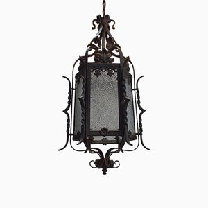 Antique Wrought Iron Landing Lantern