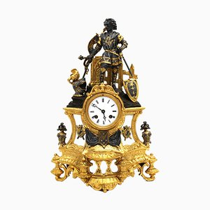 Antique Louis Philippe Gilt Bronze & Marble Pendulum Clock