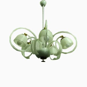 Glass 5-Light Ceiling Lamp from Barovier & Toso, 1940s